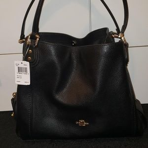 COACH Edie Shoulder Bag 31 in Polished Pebble LTHR